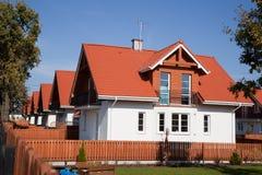 Riga delle case unifamiliari Fotografia Stock Libera da Diritti
