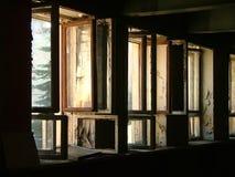 Riga delle finestre aperte Immagine Stock