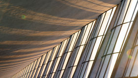 Riga delle finestre con sole Fotografia Stock