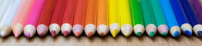 Riga delle matite colorate Fotografia Stock Libera da Diritti