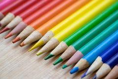 Riga delle matite colorate Immagine Stock Libera da Diritti