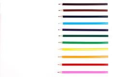 Riga delle matite variopinte Immagine Stock