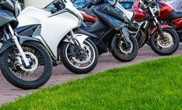 Riga delle motociclette Immagine Stock