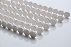 Riga delle pillole Fotografia Stock Libera da Diritti