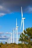 Riga delle turbine di vento immagine stock libera da diritti