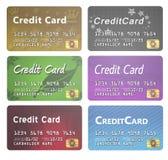 Riga di carte di credito Immagine Stock Libera da Diritti