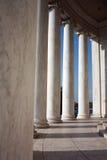 Riga di colonne al memoriale del Jefferson Fotografia Stock
