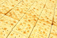Riga di cracker Fotografie Stock