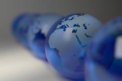 Riga di cristallo blu - profondità del campo estrema Immagini Stock