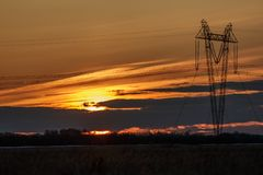 Riga di energia elettrica Immagini Stock