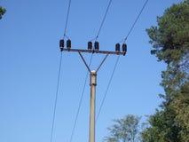 Riga di energia elettrica Immagini Stock Libere da Diritti