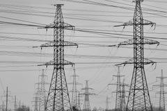 Riga di energia elettrica Fotografie Stock