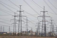 Riga di energia elettrica Fotografia Stock