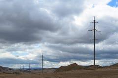 Riga di energia elettrica Fotografie Stock Libere da Diritti