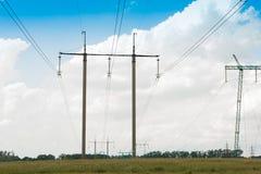 Riga di energia elettrica immagine stock