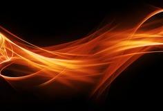 Riga di fuoco Fotografie Stock
