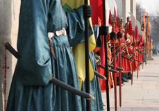 Riga di guerrieri 2 Fotografie Stock Libere da Diritti