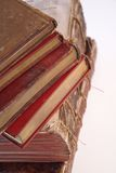 Riga di libri antichi Fotografie Stock