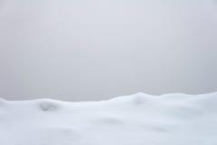 Riga di neve Immagini Stock
