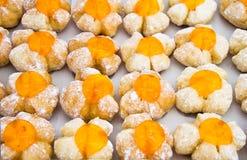 Riga di pane operato con la superficie arancione della gelatina Immagini Stock Libere da Diritti