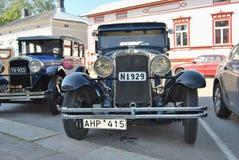 Riga di retro automobili fotografia stock libera da diritti