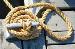 Riga di sicurezza della barca Immagine Stock