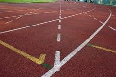 Riga di Stright sui racecours Fotografie Stock Libere da Diritti