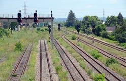 Riga di traffico del treno Fotografia Stock Libera da Diritti