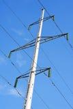 Riga di trasmissione ad alta tensione torretta Immagine Stock Libera da Diritti