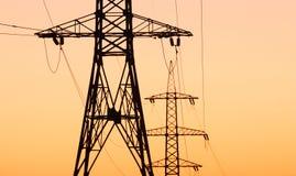 Riga di trasporto di energia Fotografie Stock