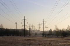 Riga di trasporto di energia Immagini Stock Libere da Diritti