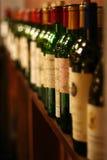 Riga di vino Immagini Stock