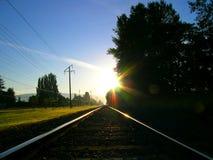 Linea diretta a est Fotografie Stock