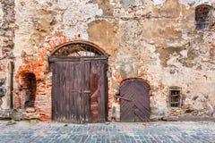 Riga doors and windows Stock Photo