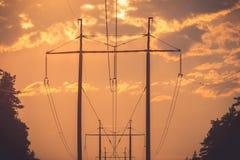 Riga elettrica fotografia stock