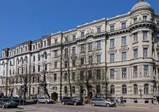 Riga, Elizabetes 31-31a éclectique photographie stock