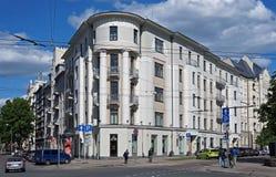 Riga Elizabetes 21а Art Nouveau och eklektiskt Royaltyfria Foton