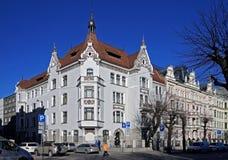 Riga, Elizabetes 13 Art Nouveau och eklekticism Arkivfoton
