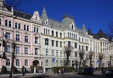 Riga, Elizabetes 13-15-17 Art Nouveau och eklekticism Royaltyfri Foto