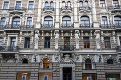 Riga, Elizabetes 33 Art Nouveau och eklekticism Fotografering för Bildbyråer