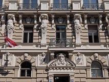 Riga, Elizabetes 33 Art Nouveau och eklekticism Royaltyfri Bild