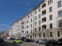 Riga Elizabetes 21-23 Art Nouveau och eklektiskt Arkivfoton
