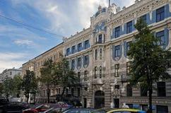 Riga, Elizabetes 10b Art Nouveau och eklekticism Royaltyfri Bild