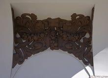 Riga Elizabetes 13, den dekorativa beståndsdelen av fasaden Royaltyfria Bilder