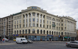 Riga Elizabetes gata 38 som är eklektisk, arkitekt Ernest Pole, 1911 Arkivfoto