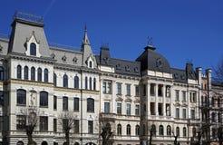 Riga, Elizabetes 17-19, het ambassadoriale kwart, historische gebouwen Royalty-vrije Stock Afbeelding