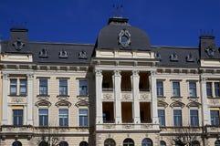 Riga, Elizabetes 19, uma construção histórica com elementos do neoclassicism e ecletismo imagens de stock royalty free