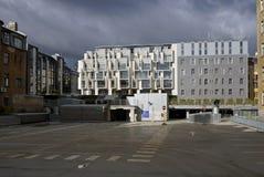 Riga en ny grannskap i mitten av staden Arkivbild