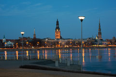 Riga in evening time Stock Images