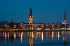 Riga - evening view Stock Images